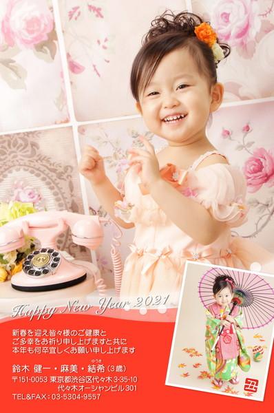 出産報告はがき 写真年賀状2019限定カラー No. 205