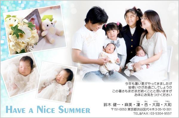出産・ファミリーはがき No.208 夏限定デザイン