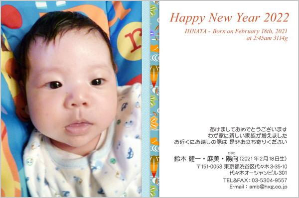 出産・ファミリーはがき No.292 青