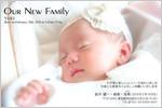 出産・ファミリーはがき No.408