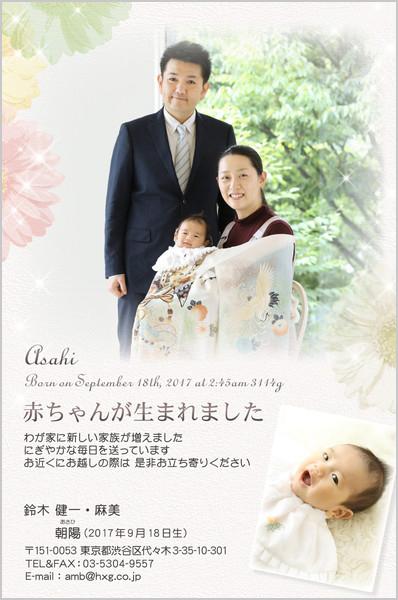 出産・ファミリーはがき No.436 マルチ