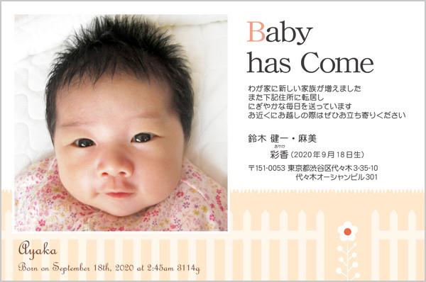 出産・ファミリーはがき No.443 ベージュ