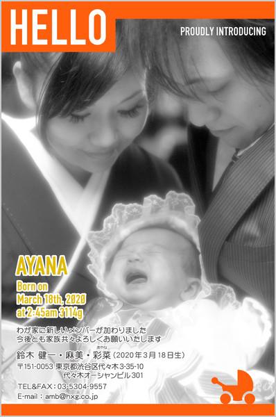 出産報告はがき とっておきの1枚デザイン No. 491
