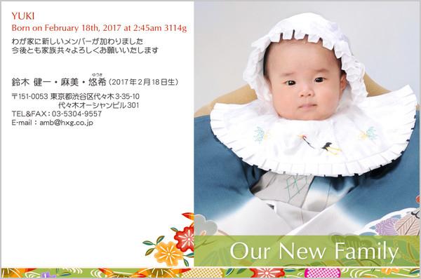 出産報告はがき とっておきの1枚デザイン No. 252