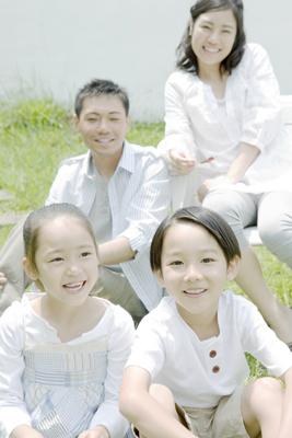 丸く抜く説明-写真はがき家族写真