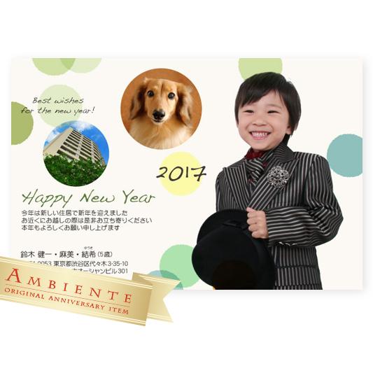 写真年賀状2017 切り抜き 七五三