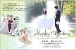 結婚報告はがき 年賀状 No.322 結婚式
